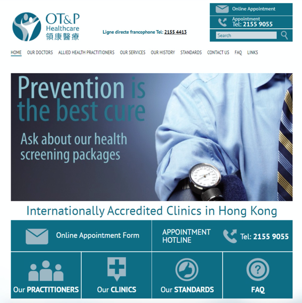 Old OT&P website