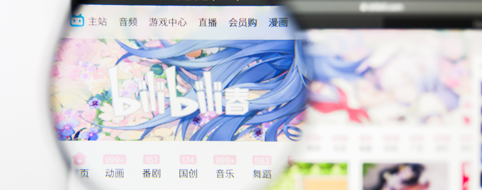 Screenshot of Bilibili Web